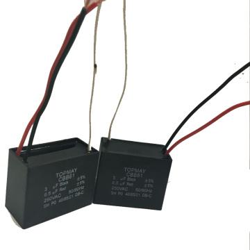 3 + 6.5UF 2 em um capacitor 250VAC Cbb61 do motor de fã da eficiência elevada