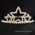 fashion metal silver plated crystal bow headband