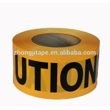 high yield strength barricade pe yellow caution tape