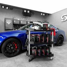 SGCB 3-х уровневая мобильная тележка с колесами, промышленная сервисная тележка для тяжелых условий эксплуатации Эргономичная тележка для хранения ванны максимальной емкости 265 фунтов с поворотными роликами для гаража, склада, уборки