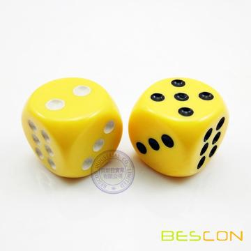 Opaque Round Big Plastic Dice 22MM