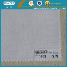 100% Various Types of Cotton Yarn Interlining