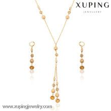 63415-Xuping joyería moda 18k chapado en oro conjunto de joyas con 3 piezas
