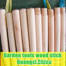 garden tools wooden stick. garden tools round wooden stick