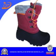 Красные Детские кожаные снег обуви