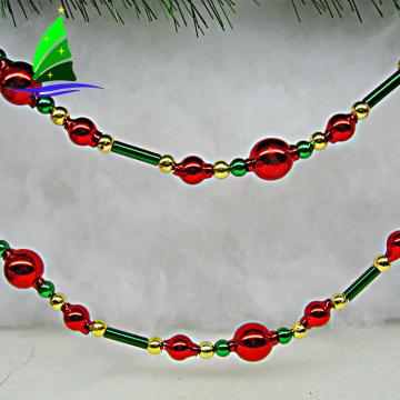 Guirnalda de vidrio de colores para la decoración de adornos de Navidad