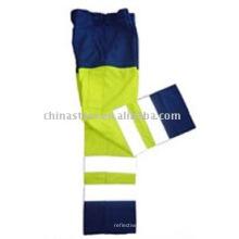 100% poliéster Alta visibilidade calças de segurança reflexiva