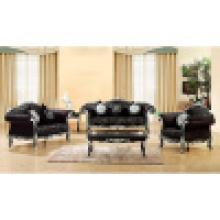 Conjunto de sofá com estrutura de sofá de madeira e mesa lateral (650B)