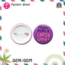 China Factory Wholesale Promotion Custom Pin Tin Button Badge