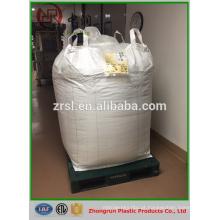 ISO9001 1ton -2ton FIBC saco a granel pp big bag pp embalagem jumbo para concentrado de cimento de carvão de concentrado de prata sentato