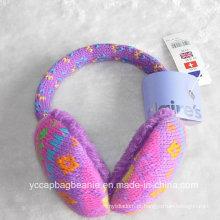 Orelha de orelha de pelúcia malha Warmer Cashmere Earmuff