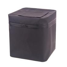 Tambor seco impermeável da cubeta quadrada preta da pesca do PVC (YKY7303)
