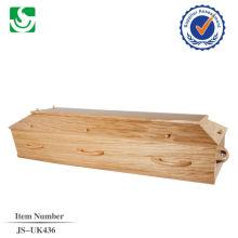 Прямая продажа Европейский стиль дубовой древесины взрослых гроб сделанные в Китае