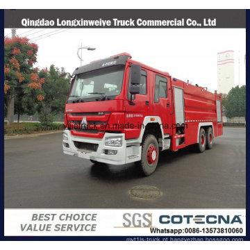 SINOTRUK 8000L de água e espuma Tanker caminhão de bombeiros