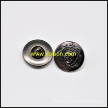 Botão de haste de metal com crânio Parttern