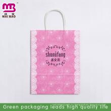 A3 Размер органического материала Рождество бумажный мешок дизайн бумага носит мешок использовать рекламу