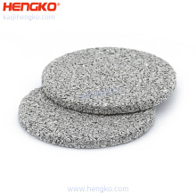 Custom Pore Size Sintered 0.5 2 10 Micron Stainless Steel Powder Sintered Filter Disc