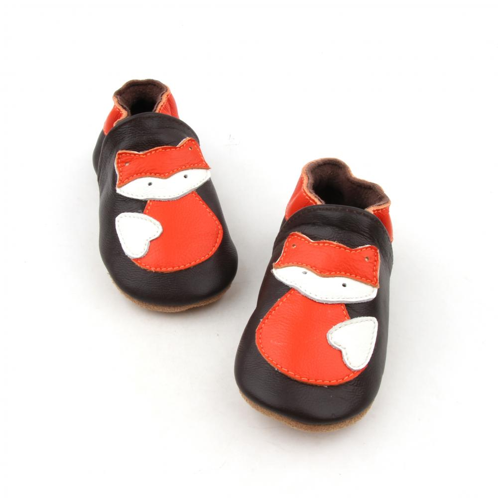 New Design Animal Soft Leather Newborn Shoes