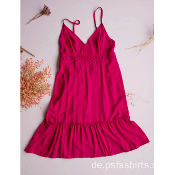 Rose Color Mittellanges Kleid