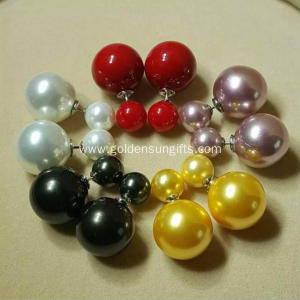 Wholesale High-Grade Ladies Double Pearls Stud Earrings