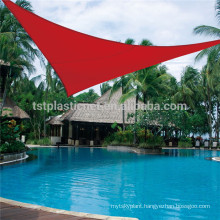 swimming pool cover with triangle shape