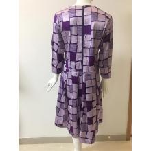 Printed Jacquard Cotton/Rayon/Spandex Dress