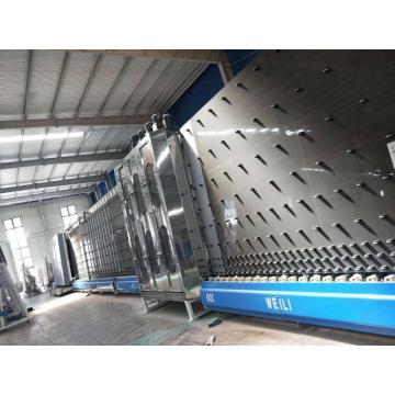 Lavadora y prensa de doble vidrio