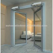 Puerta automática abatible (doble apertura)