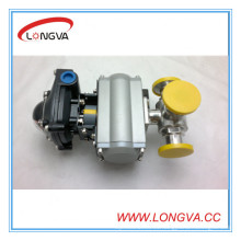 Válvula de bola neumática de 3 vías Hotsale