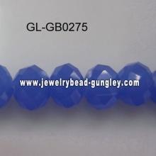 azul de grano medio de cristal opaco roundel