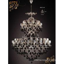 Big Black Elegant Crystal Chandelier Pendants Light (MD0771-60)