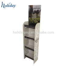 POS Cardboard Paper Material Shop Shelves And Display Stand For Cosmetic
