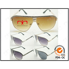 Special with Decorated Grid for Men′s Metal Sunglasses (WSM503002)