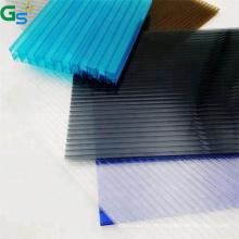 8Mm Greenhouse Building Sun Clear Pc Hollow Sheet Twin Wall Polycarbonate Sheet