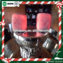 Carvão vegetal uniforme do shisha do coco do cubo de 2.5cm para a barra do café