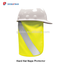 100% Polyester Lime Hard Hat Nape Protecteur Réfléchissant Salut Vis Plein Brim Sécurité Sun Shade Pour la Protection du Cou de la Tête