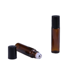 Popular empty 10ml glass amber roll on bottles for essential oil