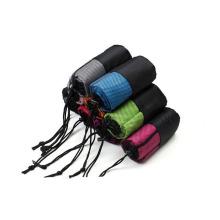 Eco amigável camurça microfibra antiderrapante yoga esporte toalha