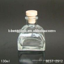 yurt aroma garrafa de vidro; garrafa de vidro transparente com rolha de borracha