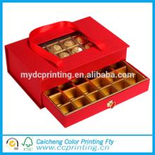 Luxus-Fensterverpackungen Schokolade Geschenkbox mit Trennwänden