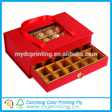 Роскошная твердая окно упаковка коробки подарка шоколада с рассекателями