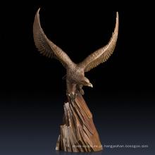 Estátuas collectible em linha da arte estátuas de bronze da águia da arte da decoração para a venda