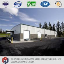 Edificio de acero estructural prefabricado con oficina