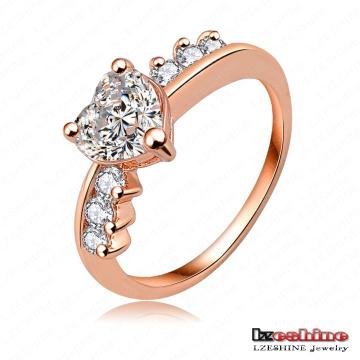 Fashion MIDI Diamond Copper Love Ring (RiC0005-A)