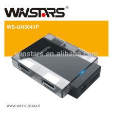 Usb 3.0 concentrateur 4 ports, concentrateur usb 5Gbps avec adaptateur secteur, Plug-n-Play et fuction remplaçable à chaud