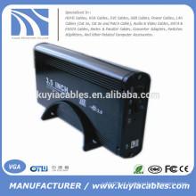 Liga de alumínio USB 2.0 SATA 3.5inch disco rígido externo / HDD