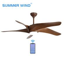 Ventilador de techo ABS marrón 5 con mando a distancia