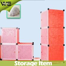 Caja de almacenamiento plástica elegante creativa del color sólido para el almacenamiento