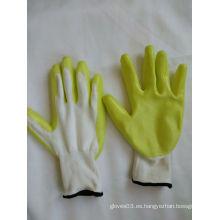 13G poliéster Shell Nitrilo guantes de trabajo de seguridad recubiertos (N6017)