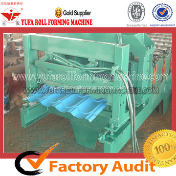 High-end Step Glazed Tile Forming Machine Making Steel Roofing Sheet